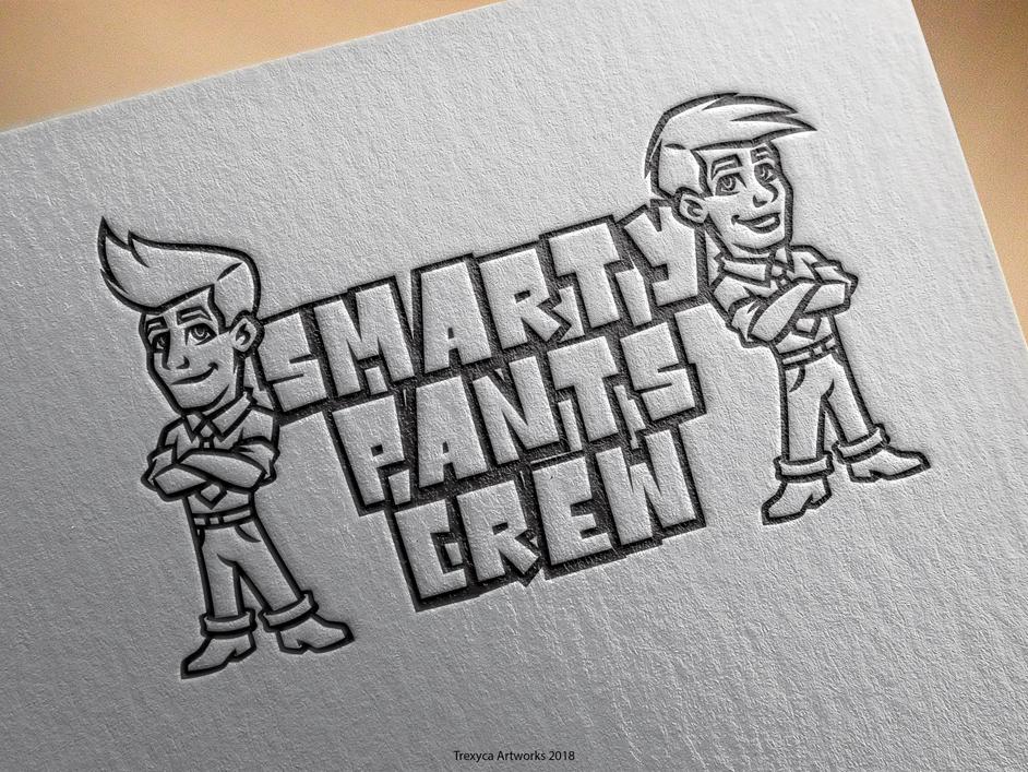 Smarty Pants Crew Cartoon Logo mascotlogo vectorillustration vectordesign vector mascotdesign mascot logo illustrator illustration design characterdesign character cartoonlogo cartoon