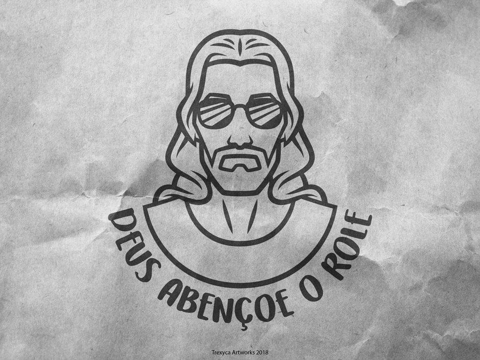 Deus Abencoe o Role vectorart vector rock mascotdesign mascot logodesign logo jesus illustrator illustration god design cool christianity christian characterdesign character cartooncharacter cartoon band