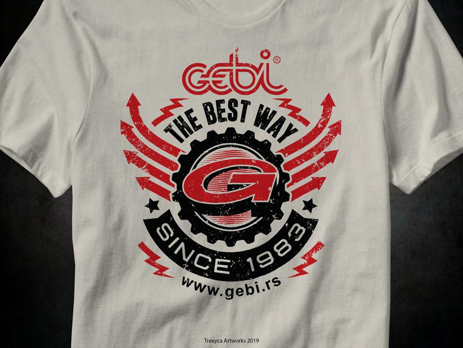 Gebi T-shirt Design 2019 gebi illustrator vectordesign modern dynamic powerful artificials tshirtdesign vector tshirt t-shirt