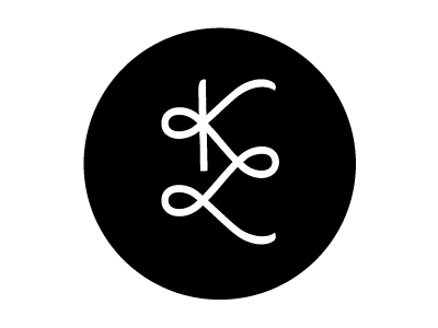 personal logo identity logo personal identity branding black circle brand mark lettermark monogram k l