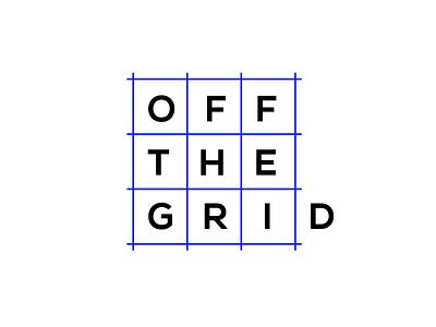 Off The Grid white typo logotype logo identity branding brand