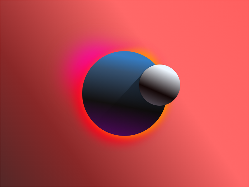 Alternate Eclipse ui eclipse poster graphic design planet gradient