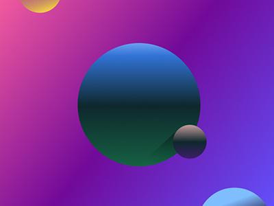 Alternate Planets 3 poster graphic design planet gradient