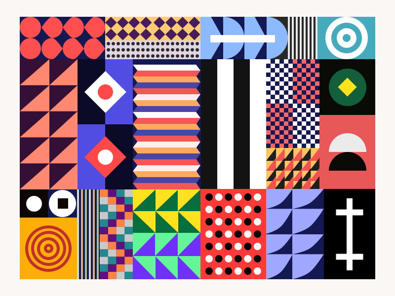 Patterns 2.0.0 illustartion shapes pattern color geometric pattern