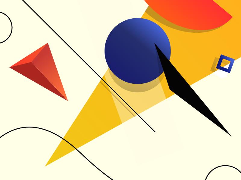 Shapes circle bold colors geometric shape shape dribbble