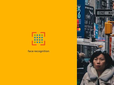 Ivideon Face Recognition app module presentation ivideon cloud service recognition face typography branding logo concept figma design