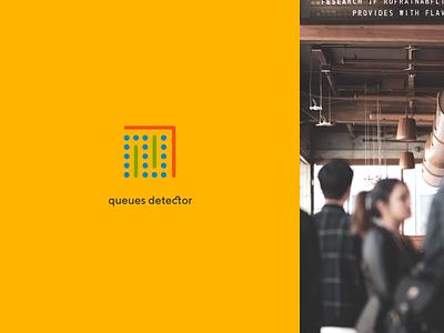 Ivideon Queue Detector detector queue service app cloud ivideon typography branding logo concept figma design