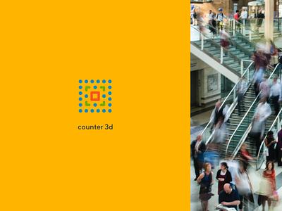 Ivideon Counter 3D analytics video detector counter service app cloud ivideon typography branding logo concept figma design