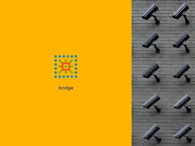 Ivideon Bridge surveillance device bridge analytics video service app cloud ivideon rebranding branding typography logo concept figma design