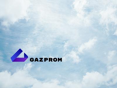 Gazprom gas gazprom branding concept logo
