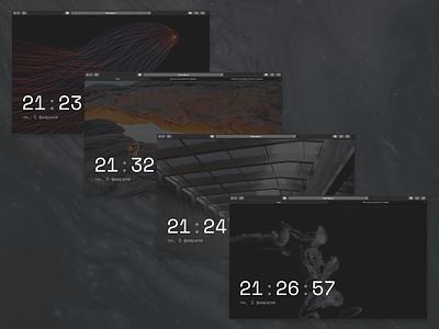 Clock js css html digits font unsplash clock time design app ui figma web