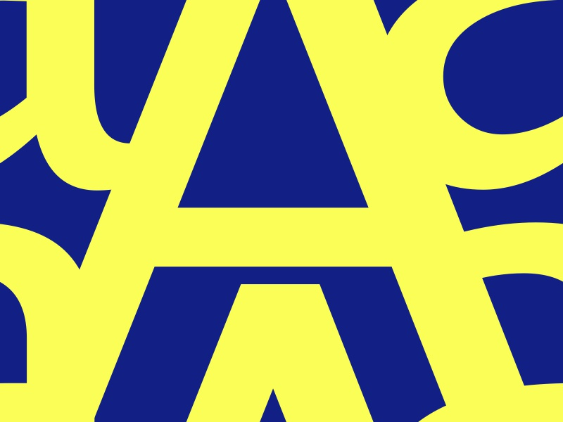 #Typehue Week 1: A a pattern repeatable blue yellow letter typography type typehuepurist typehue