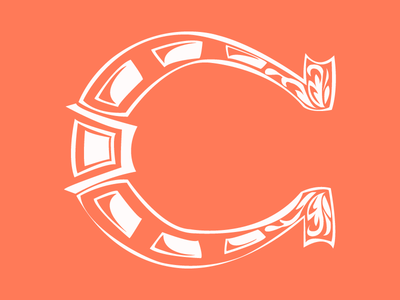 #Typehue Week 3: C c horseshoe typehue typehuepurist type typography letter