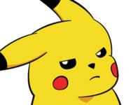 Pissed-off Pikachu