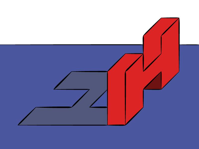 #Typehue Week 8: H toon typography typehue type letter h