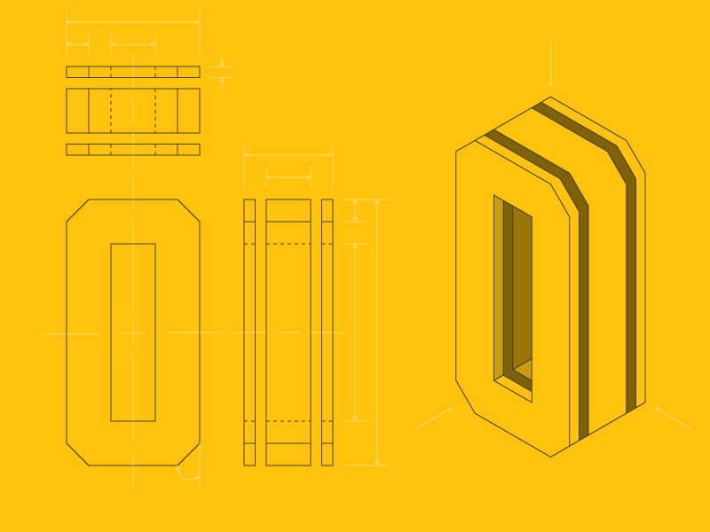 #Typehue Week 15: O drawing technical o typehue projection orthographic