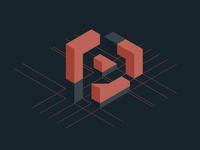 #Typehue Week 16: P negative space p typehue magnets polygon mesh isometric
