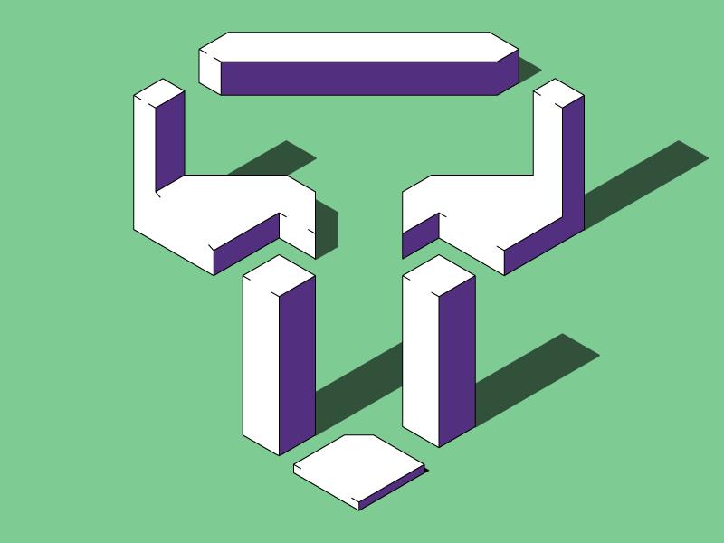 #Typehue Week 20: T buildings town space negative isometric typehue t
