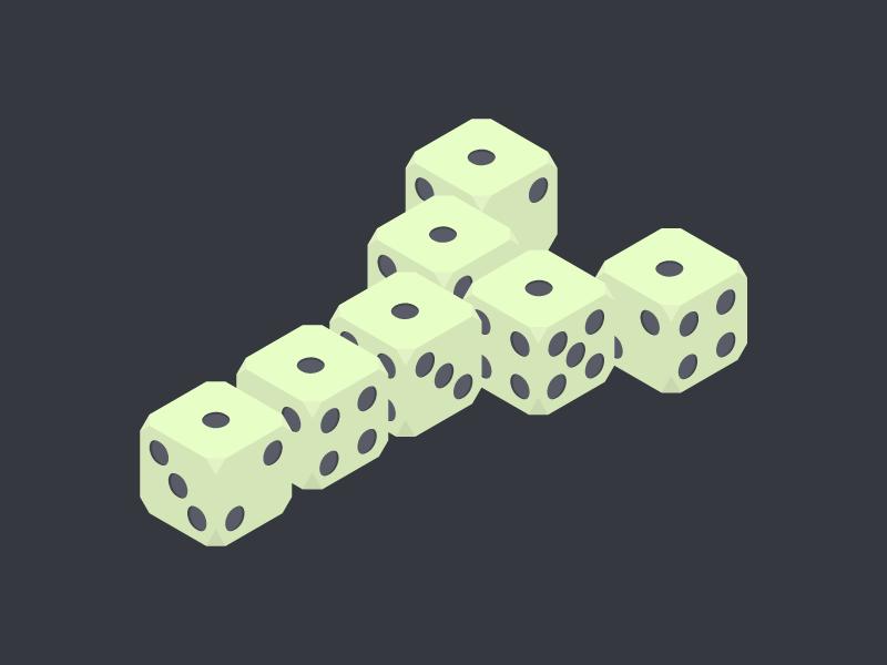 #Typehue Week 25: Y isometric dice yatzy y typehue