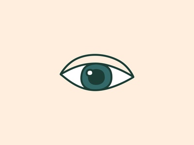 Studio Fegraeus Symbol studio fegraeus beige green eye logotype illustration