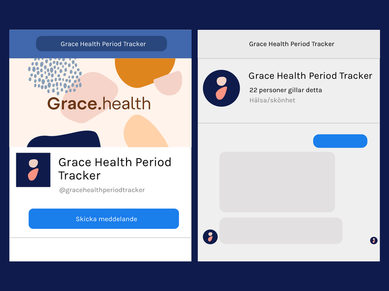 Grace Health branding shapes logotype abstract design symbol