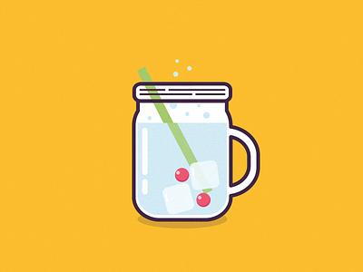 Summer Drink summer hot holliday coctail drink outline illustration