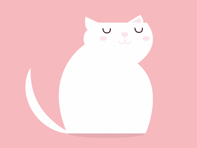 Mr. Cat vector purr pur kitty pink illustration cat