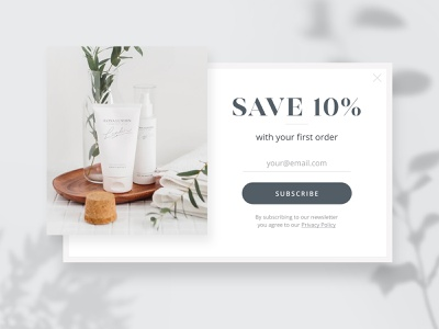 Pop Up 🌿 nature flower uidesign ui email form subscription subscribe form webdesign style cosmetology cosmetic sale offer popup design popup-form popup