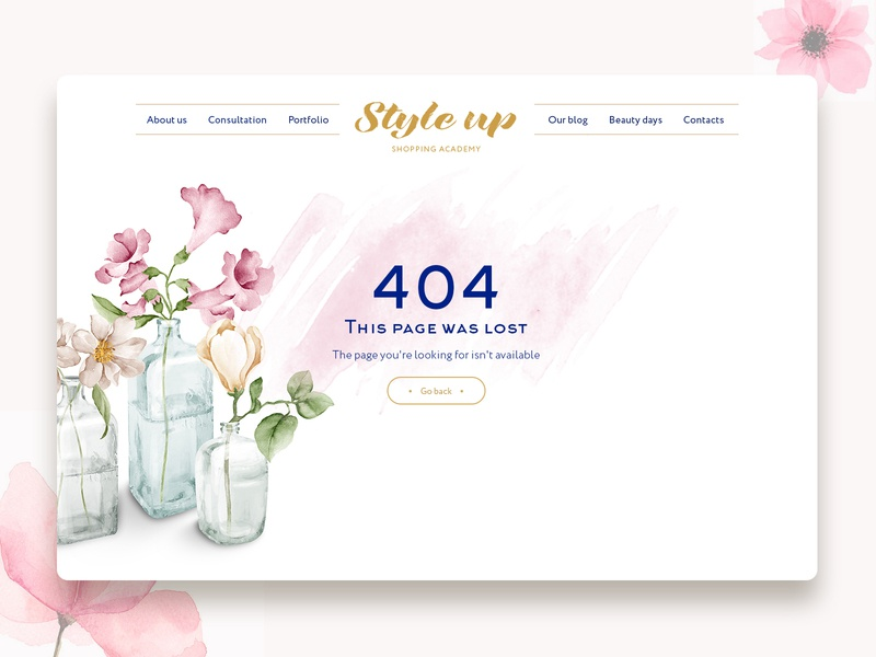 🌸404 🌸 404 page flower watercolors web 404 error page 404 error 404