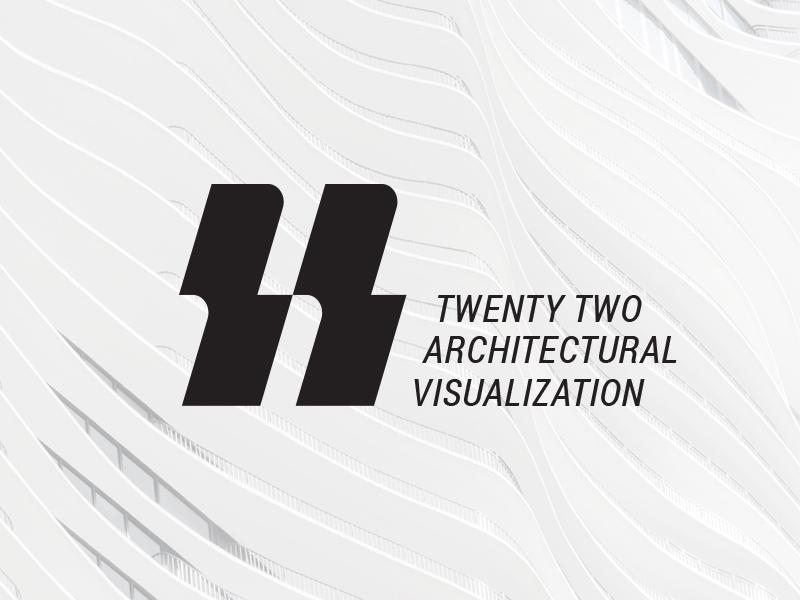 22 Architectural Visualisation branding mark logo architectural visualisation 22