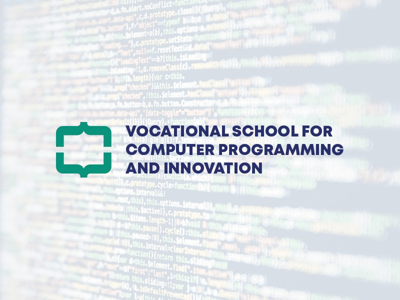 Programming School Logo branding logo code school