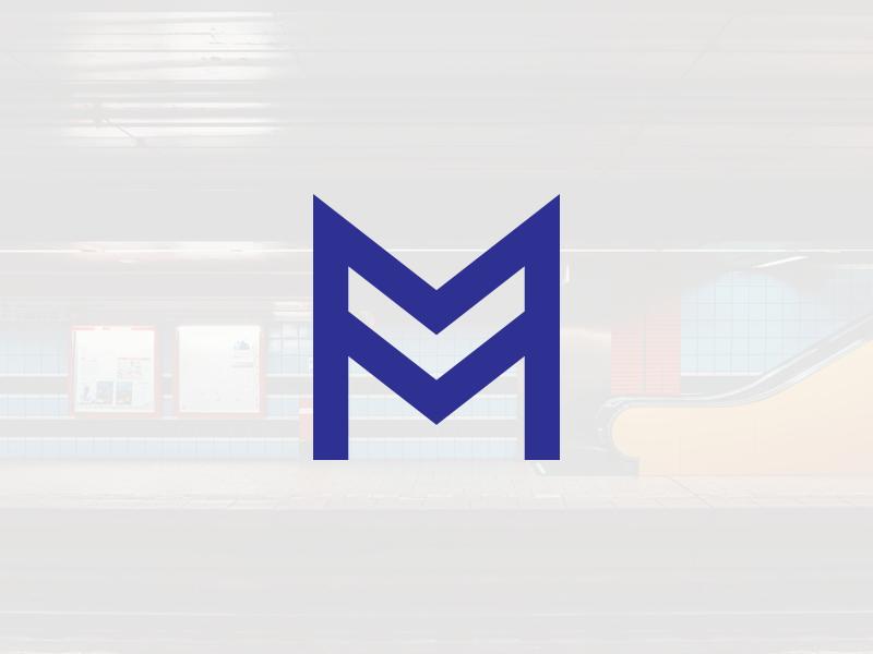Metro / Subway logo concept logo concept subway metro m letter m mark logo