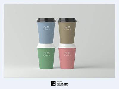 GRTEA illustration typography graphic branding logo design itslan.com