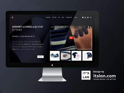 WEB fashion redesign design web