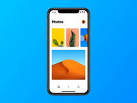 Unsplash for Framer mobile app web ui prototype magic motion photos images framer unsplash
