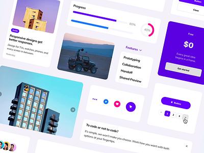 Landing Page Kit for Framer blocks carousel feature card pricing input graphic design prototype interaction interface web mobile website landing page kit framer animation