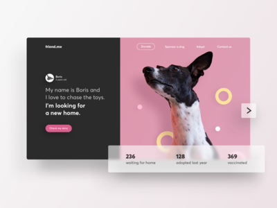 Dogs Adoption - Landing Page