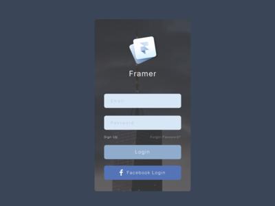 Framer Login Concept