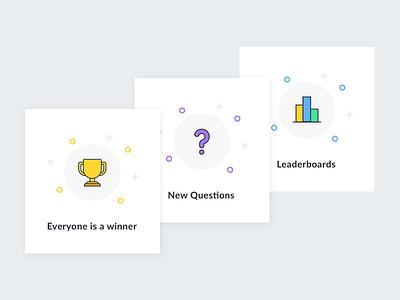 Quiz Onboarding walkthrough onboard leaderboards mystery questions trophy onboarding quiz app quiz