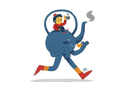 Walk in teapot illustrator design character kids illustrations childrens book children illustration relax teapot