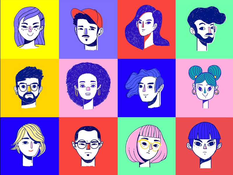 Faces out there doodleart sketch design character equality diversity peoples illustration illustrator doodle colors people faces