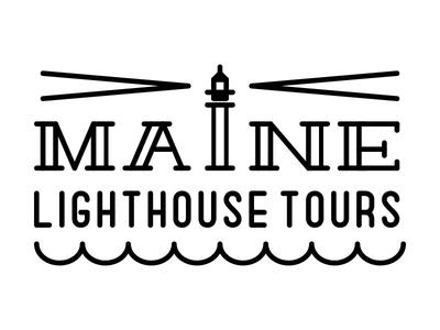 Maine Lighthouse Tours maine lighthouse tours waves sea logo type light house lighthouse tours