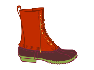L.L. Bean Boot bean boot duck boot boot hunting maine illustration hiking