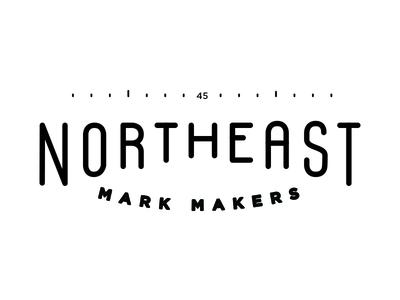 Northeast Mark Makers simple clean branding design type 45 compass mark makers northeast