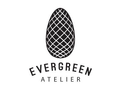 Evergreen Atelier pine cone evergreen tree cone pine logo