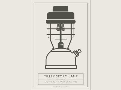 VHD Poster 1 of 5` vhd poster lamp lantern tilley vintage hiking depot