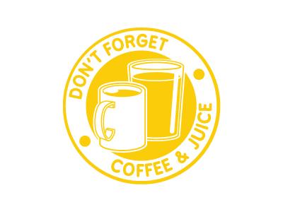 Don't Forget badge coffee juice menu