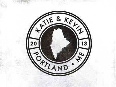 Wedding Ident. wedding invite maine seal stamp logo identity portland