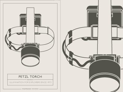 Vhd Poster Pt5 petzl torch flashlight head torch vhd vintage hiking depot