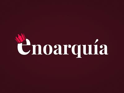 Enoarquía logo crown branding brand blog wine logo